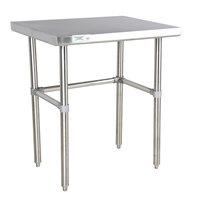 "Regency 30"" x 36"" 16-Gauge 304 Stainless Steel Commercial Open Base Work Table"