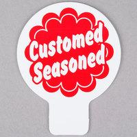 Deli Tag Topper - Customed Seasoned - Red