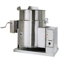 Cleveland KGT-12-TGB Natural Gas 12 Gallon Tilting 2/3 Steam Jacketed Tabletop Kettle - 53,000 BTU