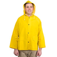 Yellow 2 Piece Rain Jacket - Large