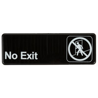 No Exit Sign - Black and White, 9 inch x 3 inch