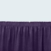 National Public Seating SS16-96 Navy Shirred Stage Skirt for 96 inch Stage - 15 inch x 96 inch