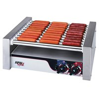 APW Wyott HRS-20S Non-Stick Hot Dog Roller Grill 13 inchW - Slant Top 120V
