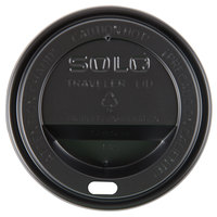 Dart Solo TL38B1-0004 8 oz. Black Plastic Travel Lid - 1000/Case