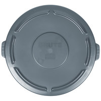 Rubbermaid FG265400GRAY BRUTE Gray 55 Gallon Trash Can Lid