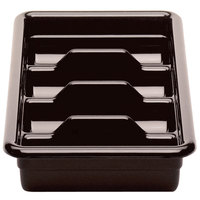 Cambro 1120CBR131 Dark Brown Plastic Regal Cutlery Box 11 inch x 20 inch