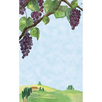 8 1/2 inch x 11 inch Menu Paper - Wine Country Themed Grapevine Design Cover - 100/Pack