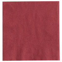 Choice 10 inch x 10 inch Customizable Burgundy 2-Ply Beverage / Cocktail Napkin - 1000/Case