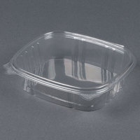D&W Fine Pack VH24P VersaPak 24 oz. Recyclable Square Hinged Take Out Deli Container - 200/Case