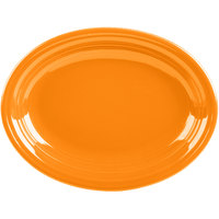 Homer Laughlin 457325 Fiesta Tangerine 11 5/8 inch Medium Oval Platter   - 12/Case