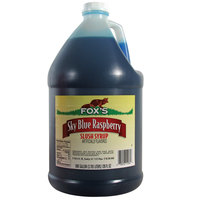 Fox's Blue Raspberry Slush Syrup - (4) 1 Gallon Containers / Case