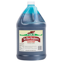 Fox's 1 Gallon Blue Raspberry Slush Syrup - 4/Case