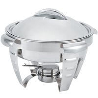 Vollrath 49522 6 qt. Maximillian Steel Large Round Chafer with Stainless Steel Accents