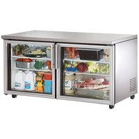True TUC-60G-ADA 60 inch Glass Door Deep ADA Compliant Undercounter Refrigerator