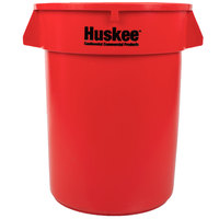 Continental 3200RD Huskee 32 Gallon Red Round Trash Can