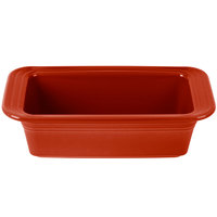 Homer Laughlin 813326 Fiesta Scarlet 5 3/4 inch x 10 3/4 inch x 3 inch Loaf Pan - 3/Case