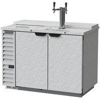 Beverage-Air DD50HC-1-C-S Single Tap Club Top Kegerator Beer Dispenser - Stainless Steel Front, (2) 1/2 Keg Capacity