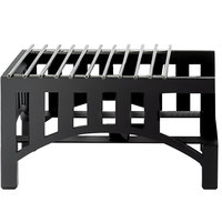 Cal-Mil 1363-13 Black Steel Mission Style 14 inch x 12 inch Butane Stove Frame