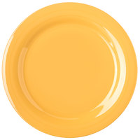 Carlisle 4300222 Durus 10 1/2 inch Honey Yellow Narrow Rim Melamine Plate - 12/Case