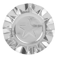 Royal Paper LA201P 4 1/8 inch Disposable Aluminum Foil Ash Tray with Silver Star Design   - 250/Pack