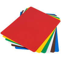 Tablecraft FCB1520A 20 inch x 15 inch Assorted Color Flexible Cutting Board - 6/Set