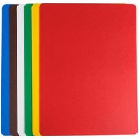 Tablecraft FCB1520A 15 inch x 20 inch Flexible Cutting Board Set - 6 / Pack - Assorted Colors