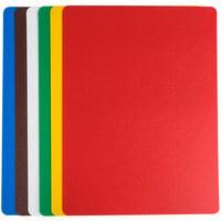 Tablecraft FCB1520A 15 inch x 20 inch Flexible Cutting Board - 6/Set