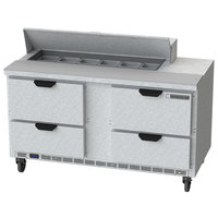 Beverage Air SPED60HC-12-4 60 inch 4 Drawer Refrigerated Sandwich Prep Table