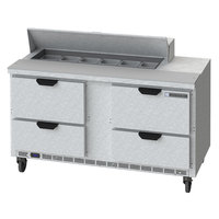 Beverage-Air SPED60HC-12-4 60 inch 4 Drawer Refrigerated Sandwich Prep Table