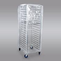 Curtron SUPRO-14-EC Clear Bun Pan Rack Cover - 12-14 Mil