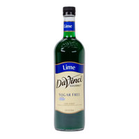 DaVinci Gourmet 750 mL Lime Sugar Free Coffee Flavoring / Fruit Syrup