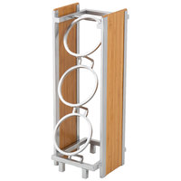 Cal-Mil 1283 Eco Modern Bamboo 3-Cylinder Vertical Flatware / Condiment Display