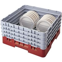 Cambro CRP4467163 Red Full Size PlateSafe Camrack 6-7 inch