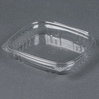 Genpak AD16S 7 1/4  x 6 3/8 inch x 1 inch 16 oz. Clear Shallow Hinged Deli Container - 200/Case