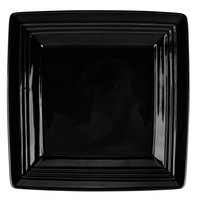 Tuxton CBH-0845 Concentrix 8 1/2 inch Black Square China Plate - 12/Case