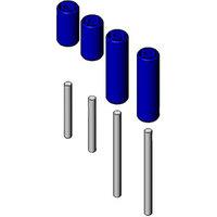 T&S 014937-45 Roller Kit for 19 1/2 inch Diameter Enclosed T&S Hose Reels