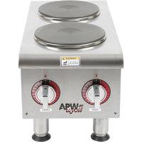 APW Wyott SEHPi Dual Solid Burner Countertop Electric Range - 240V