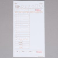 Choice 1 Part Tan and White Guest Check with Note Space, Beverage Lines, and Bottom Guest Receipt - 2000/Case