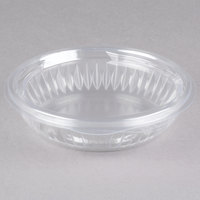 Dart C8HBF PresentaBowls 8 oz. Clear Hinged Plastic Bowl with Flat Lid - 300/Case