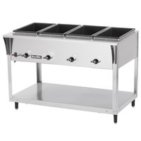 Vollrath 38214 ServeWell SL Electric Four Pan Hot Food Table 120V - Sealed Well