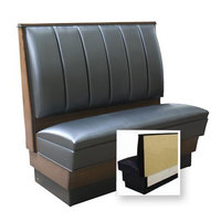 American Tables & Seating AS-366-Wall 6 Channel Back Upholstered Wall Bench - 36 inch High