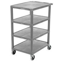 Luxor BC45-G Gray 4 Shelf Serving Cart - 18 inch x 24 inch x 39 inch