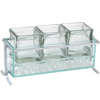 Cal-Mil 1806-5-39 Iron Short Silver Iced Jar Display - 13 1/2 inch x 5 1/2 inch x 7 inch