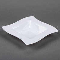 Fineline Wavetrends 112-WH White Plastic Bowl 12 oz. - 10/Pack