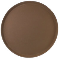 Carlisle 1600GR2076 Griptite 2 16 inch Brown Non Skid Fiberglass Serving Tray
