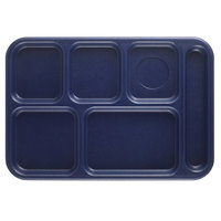 Cambro BCT1014186 Navy Blue Budget 6 Compartment Serving Tray - 24/Case