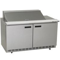 Delfield 4460N-18M 60 inch 2 Door Mega Top Refrigerated Sandwich Prep Table