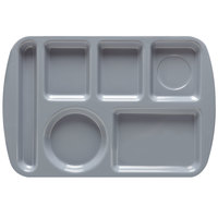 GET TL-151 French Blue Melamine 9 1/2 inch x 14 3/4 inch Left Hand 6 Compartment Tray - 12/Pack