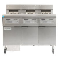 Frymaster FPGL330-CA Natural Gas Floor Fryer with Three 30 lb. Frypots and Automatic Top Off - 225,000 BTU