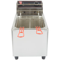 Cecilware EL25 Stainless Steel Electric Commercial Countertop Deep Fryer with 15 lb. Fry Tank - 240V, 3200W